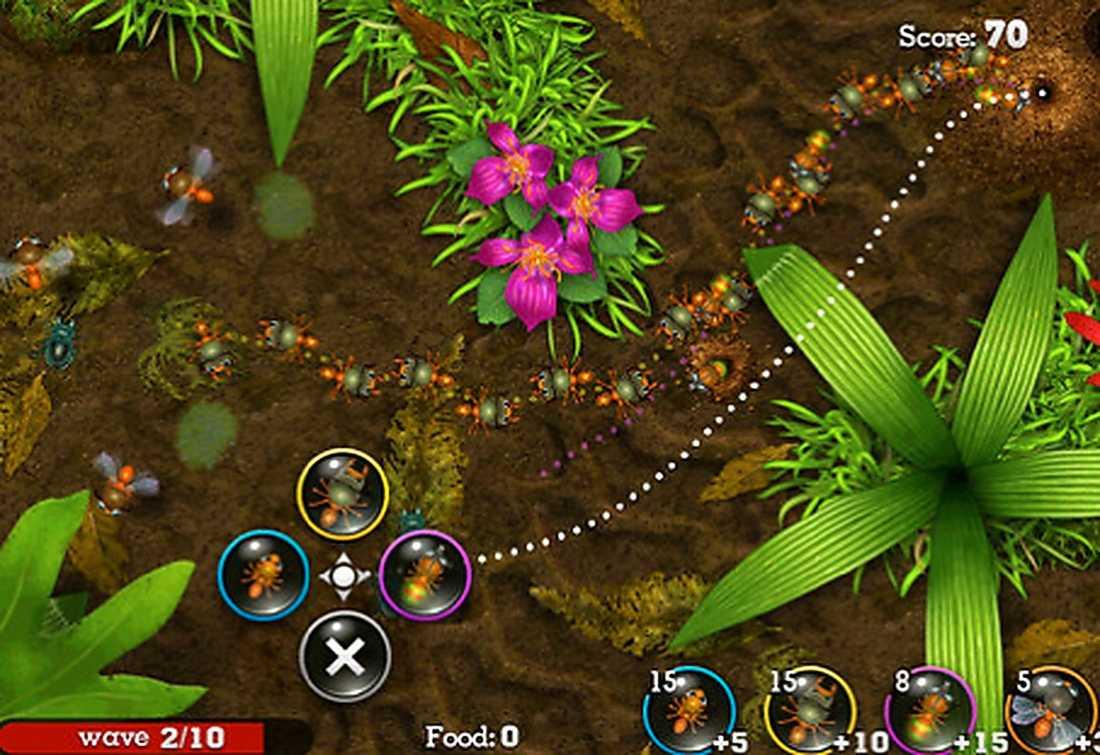 Spelet går ut på att man ska skydda sin stack och sin drottning på olika sätt.