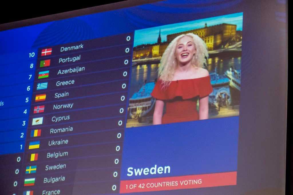 Wiktoria levererade svenska juryrösterna.