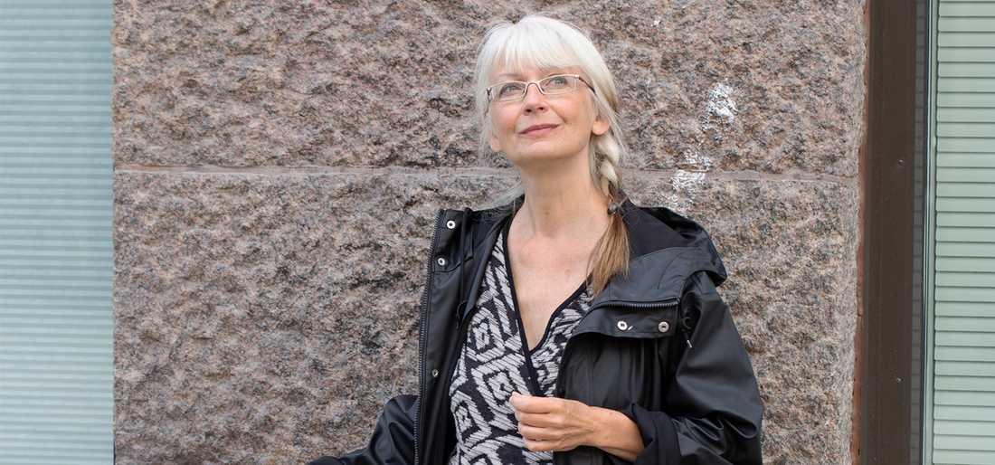 """Inger Edelfeldt (f 1956) har just utkommit med romanen """"Om snö och guld""""."""