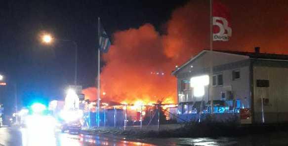En brand bröt ut i Luleå på lördagskvällen.