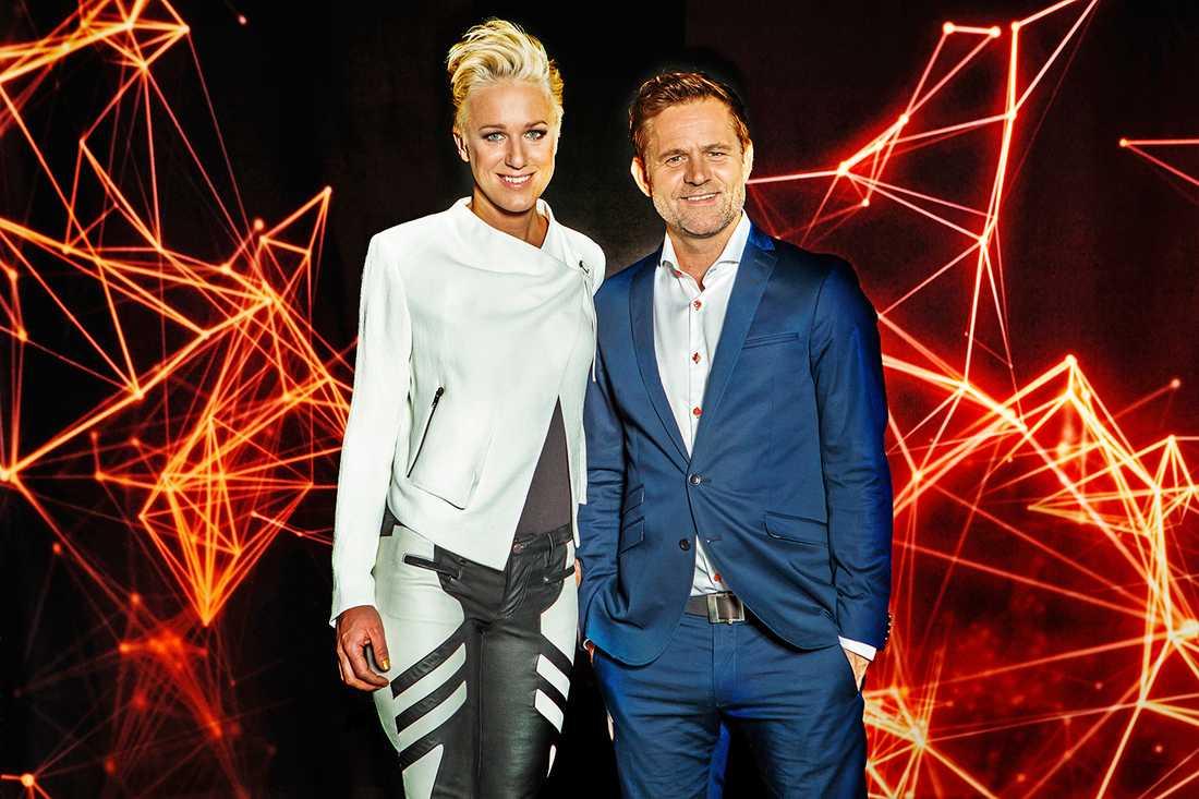 """Kajsa Bergqvist och Rikard Olsson leder SVT:s storsatsning """"Atleterna""""."""