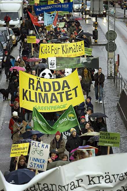 Marchen i Stockholm avslutades på Sergels torg.