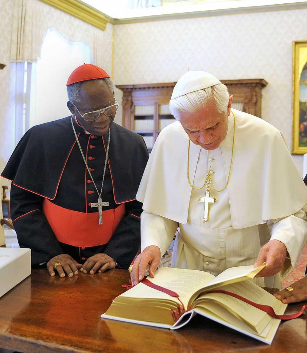 Francis Arinze med Benedictus XVI.