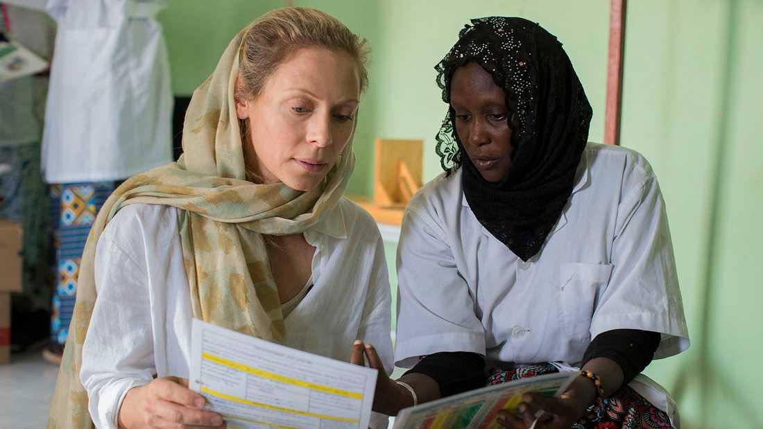 Eva Röse i Mauretanien.