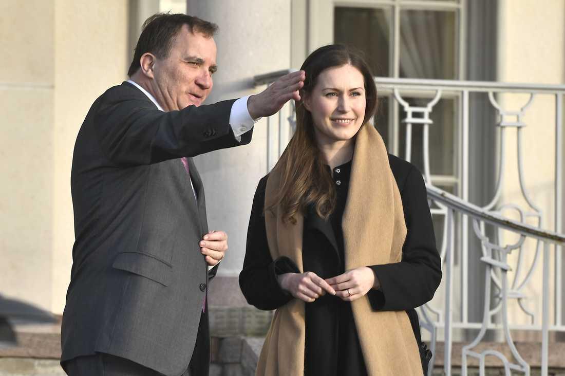 Finlands statsminister Sanna Marin kommer tala för Sverige på veckans EU-toppmöte, eftersom statsminister Stefan Löfven ställer in av privata skäl. Arkivbild.