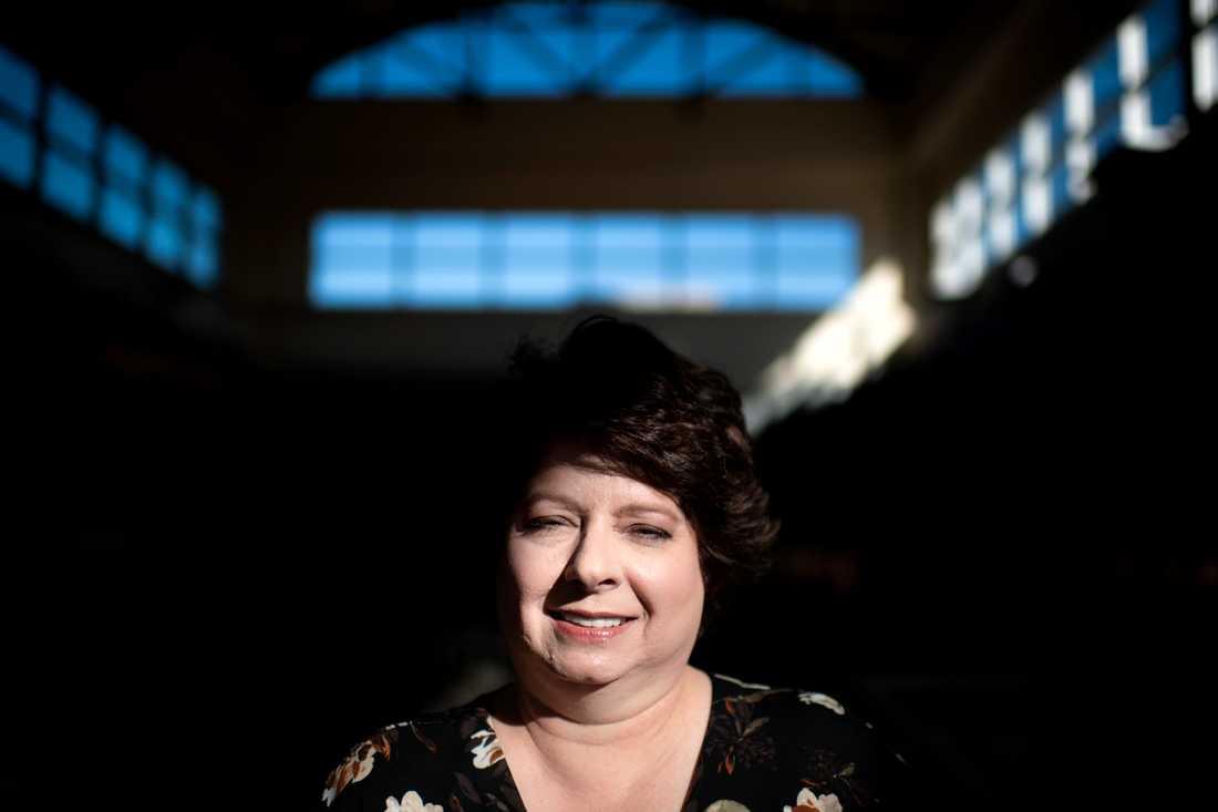 Republikanen Barbara Burkard som jobbar lokalt åt partiet i Ohio.