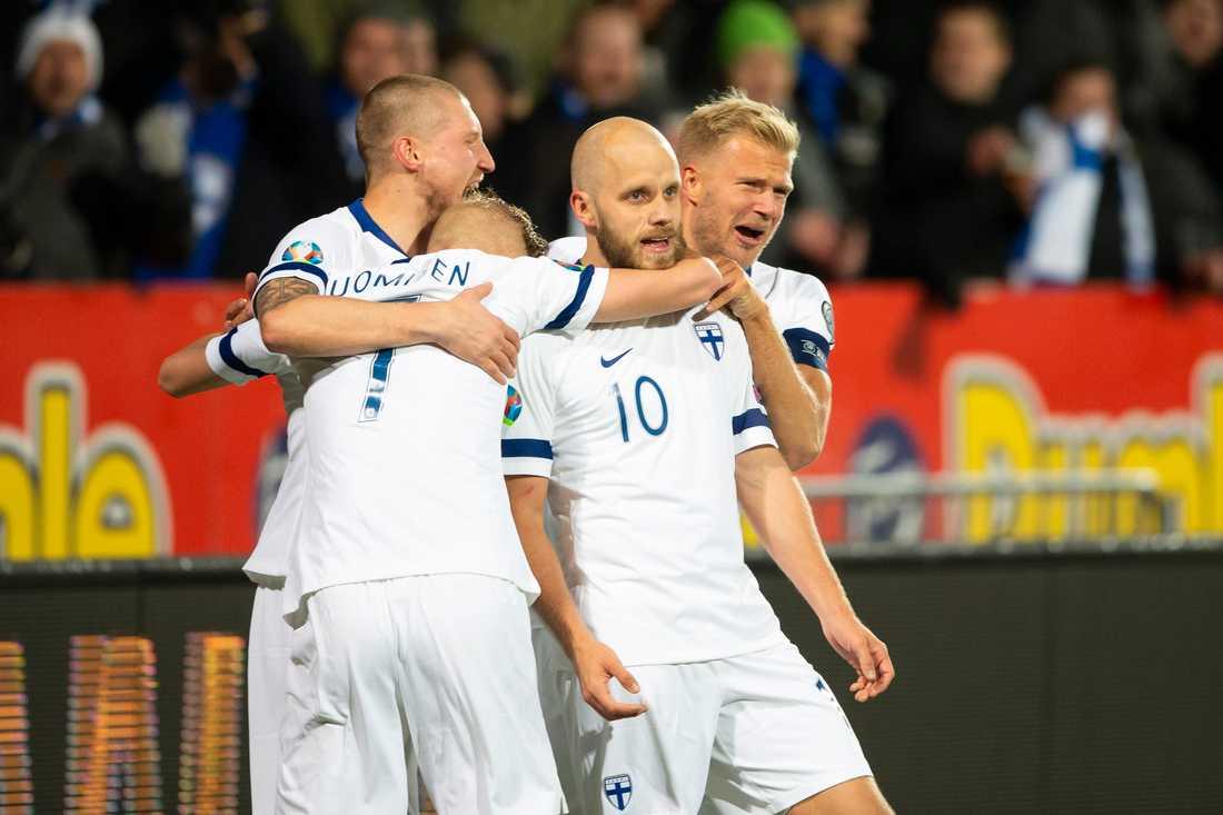 Teemu Pukki och Finland står som motstånd i Sveriges EM-uppladdning i vår