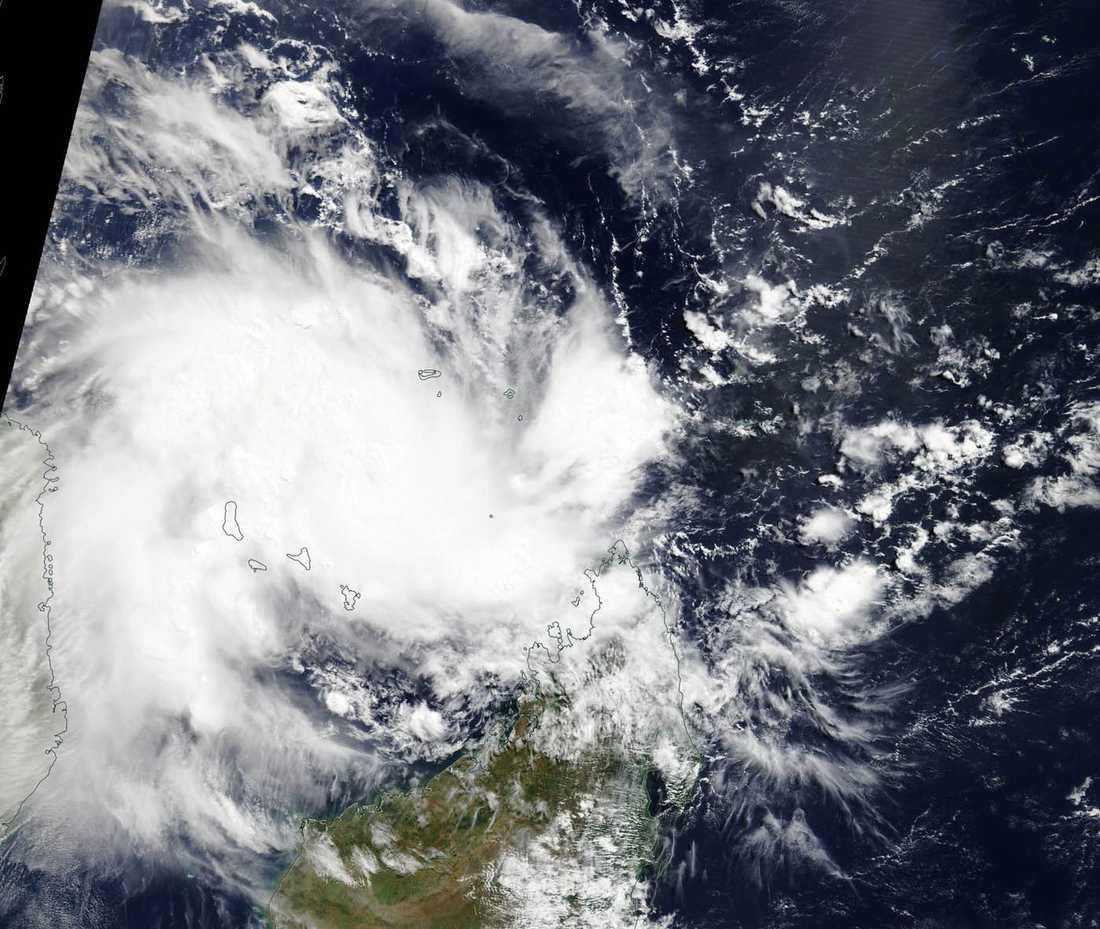 Cyklonen Kenneth drog in över Moçambique på torsdagen.