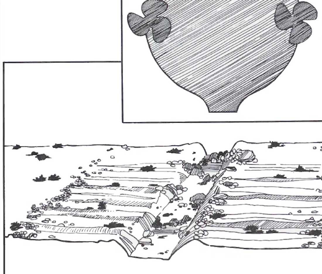 Skisser visar vad som kan ha legat bakom spåren i botten.