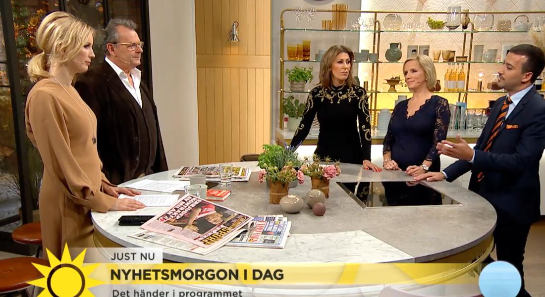 Här gör hon sin sista sändning i TV4.