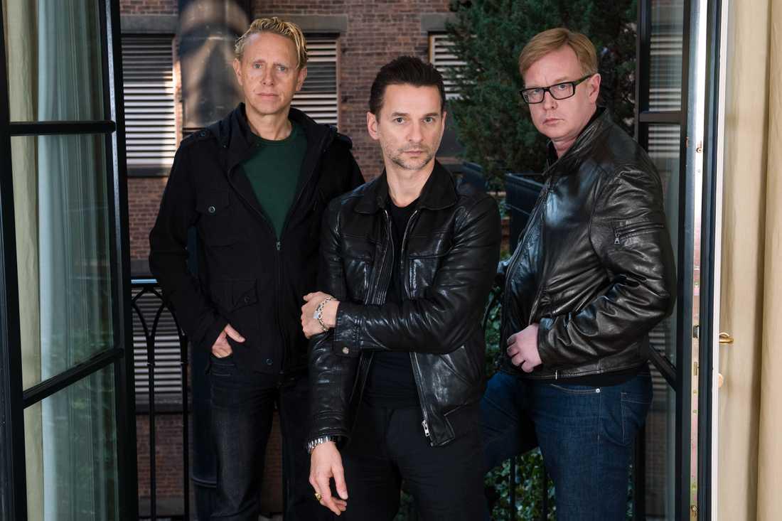 Martin Gore, David Gahan och Andrew Fletcher.