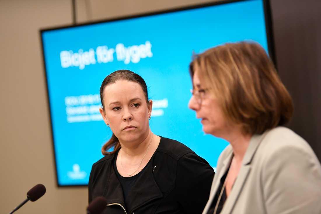 Den särskilde utredaren Maria Wetterstrand överlämnade på måndagen utredningen om biobränsle för flyget till miljö- och klimatminister Isabella Lövin.