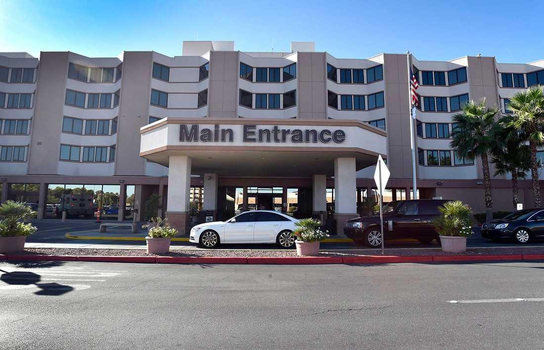 Sunrise Hospital i Las Vegas, där Lamar Odom vårdats sedan kollapsen.