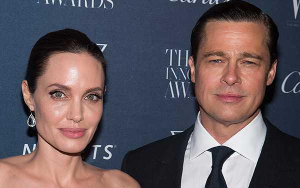 Angelina Jolie med Brad Pitt, som utreds för barnmisshandel.
