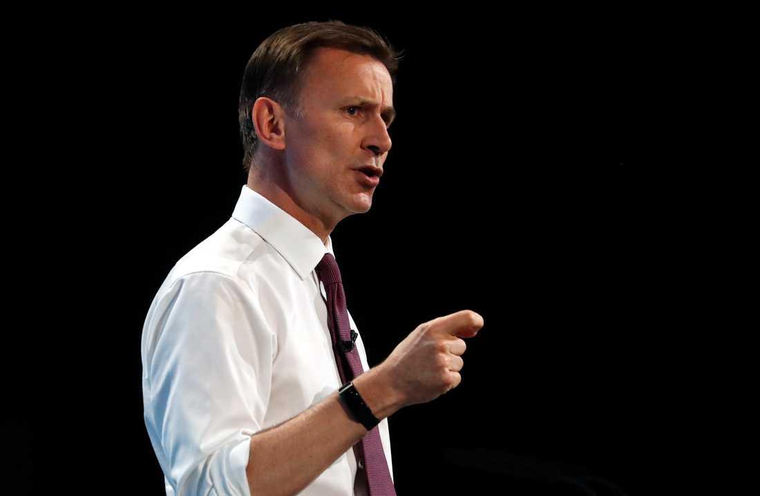 Storbritanniens utrikesminister Jeremy Hunt under ett valmöte i London i onsdags.