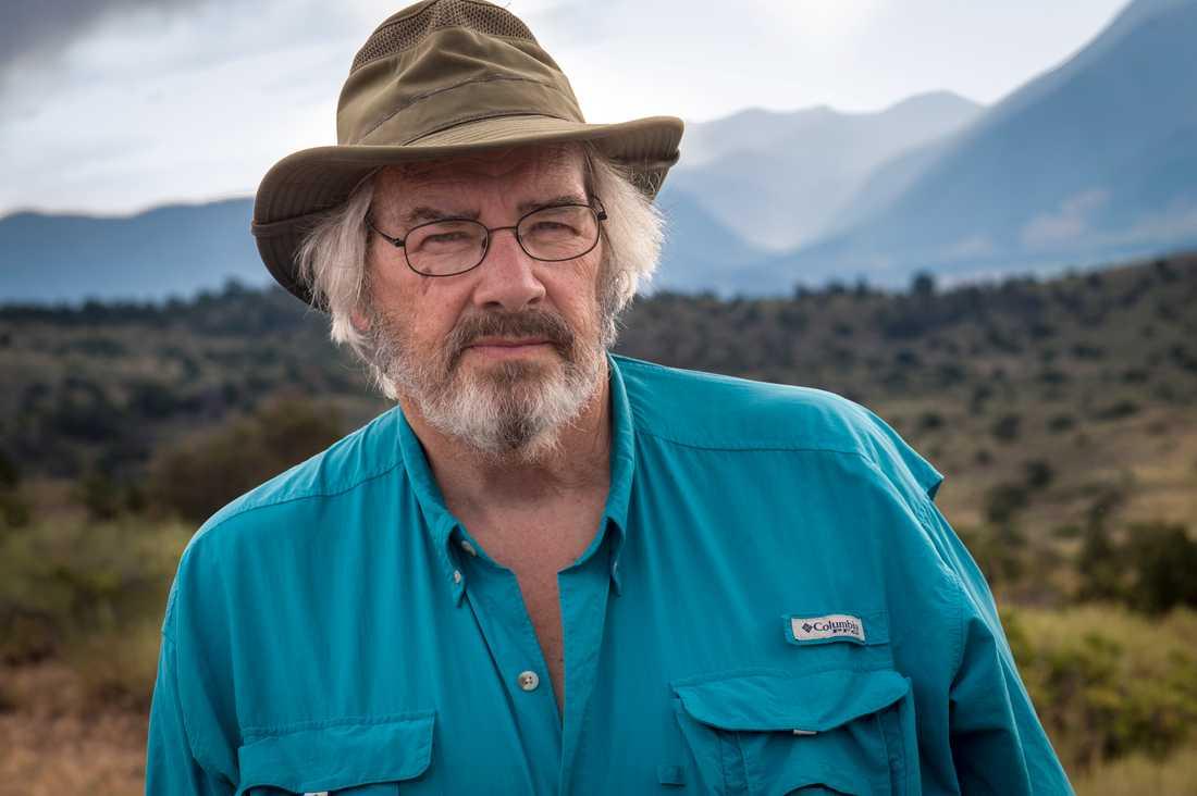 Paleontologen Jack Horner har gjort sig berömd för flera av sina teorier om dinosaurier, och fynd av olika fossil. Bilden är tagen under ett fältarbete i Montana 2013.