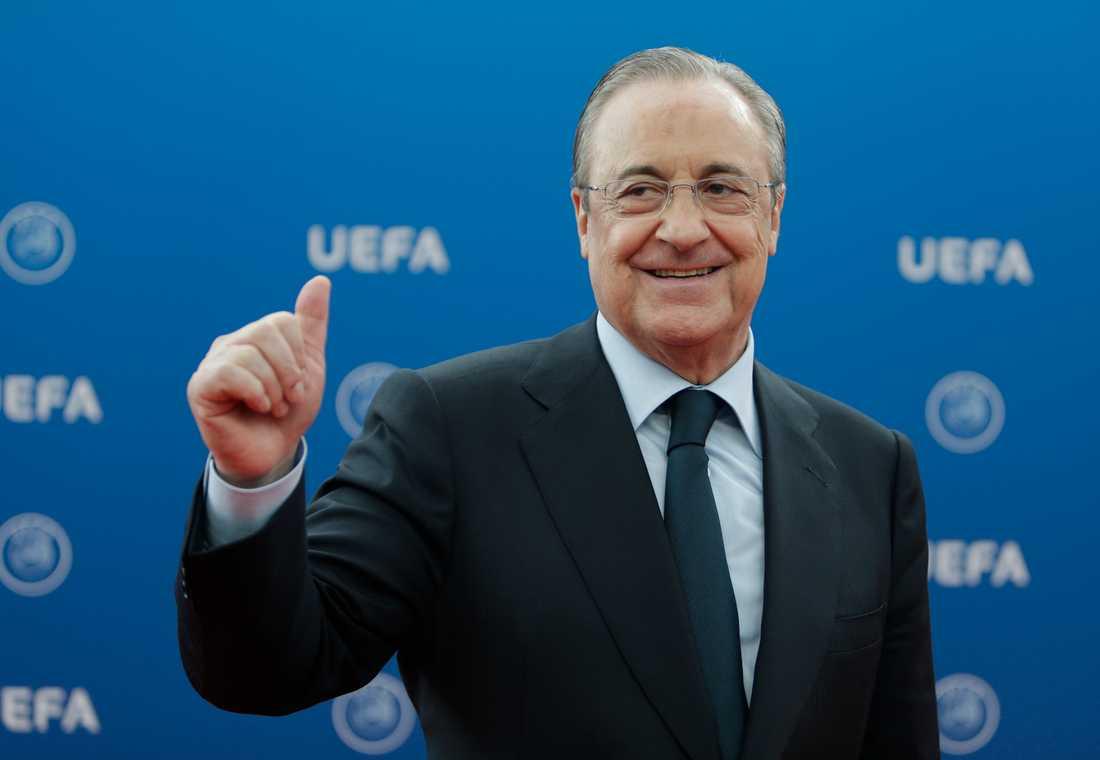 Den nya superligans ordförande Florentino Perez. Arkivbild.