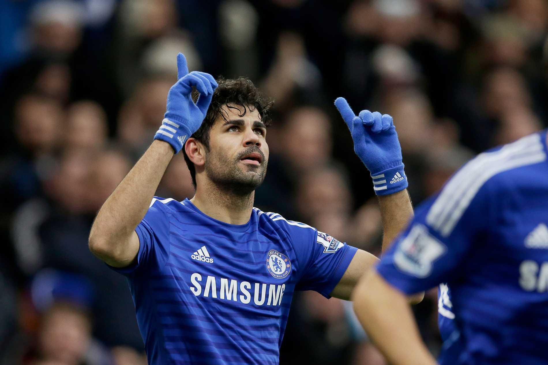 Mot toppen. Diego Coista och Chelsea är spelarnas favoriter i Champions League.