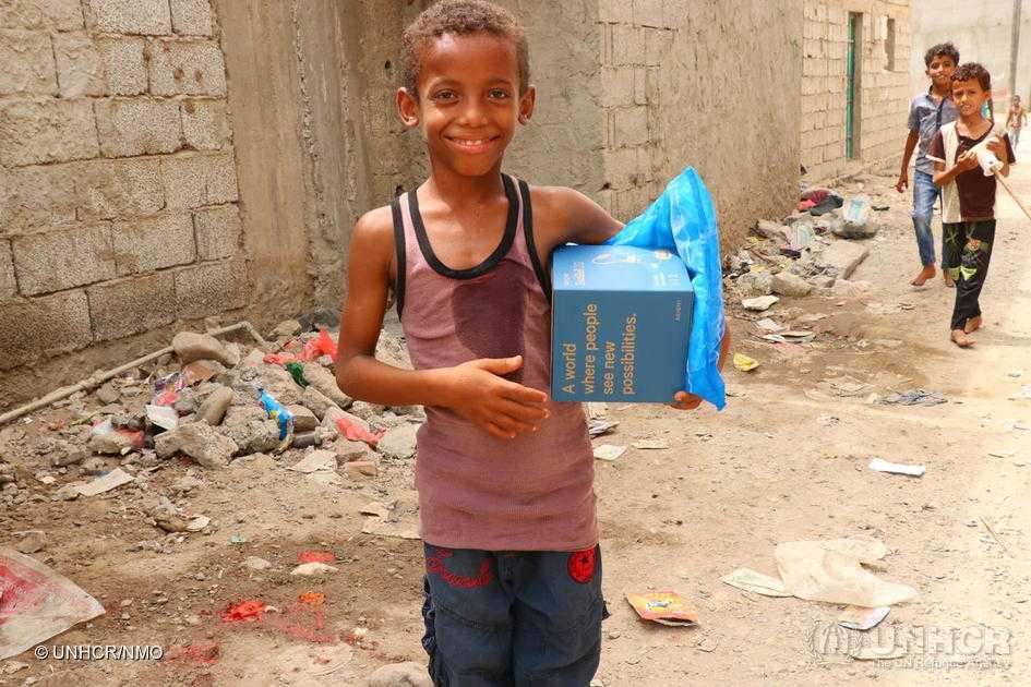 Hjälpen från FN:s flyktingorgan är livslinan för mängder av barn i utsatta områden.