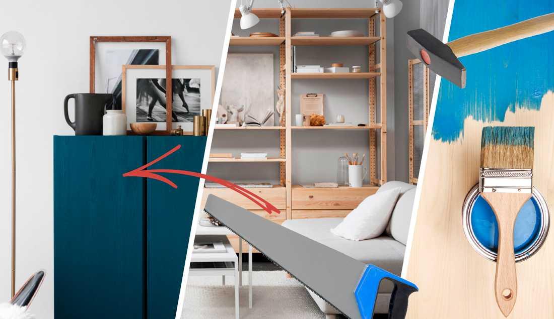 Måla, såga och sätt ihop i ny form. Om du tänker utanför det platta paketet kan du komponera en unik möbel.