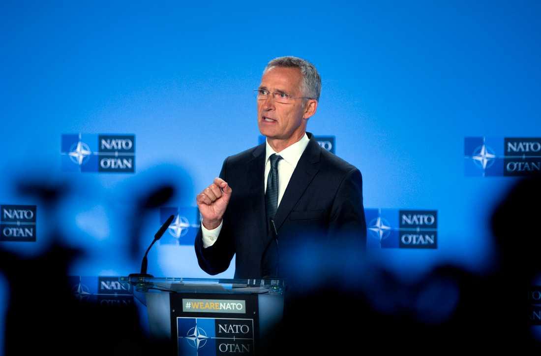 Natos generalsekreterare Jens Stoltenberg. Arkivbild