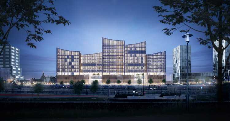 Den nya domstolsbyggnaden kommer börja användas vid årsskiftet 2022/2023.