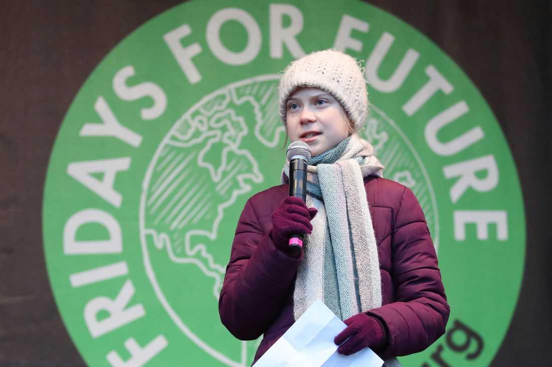 Greta Thunberg manar till kamp för klimatet i sitt tal i Hamburg.