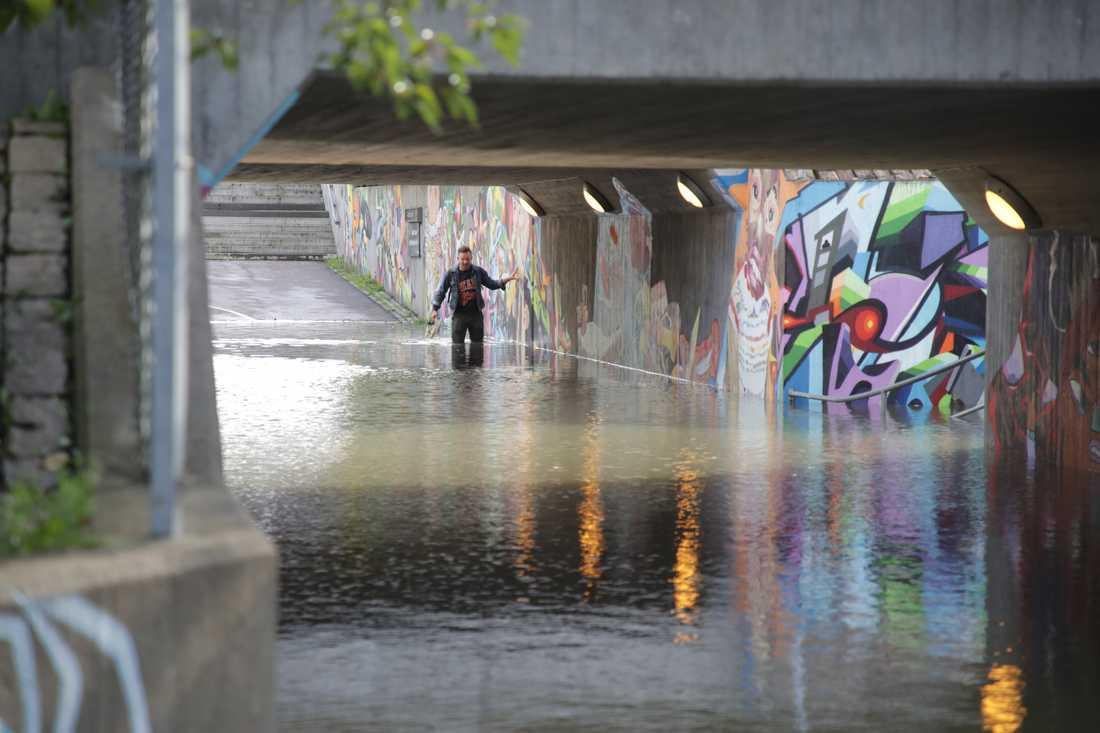 Översvämningar på Ekeleden i Kållered
