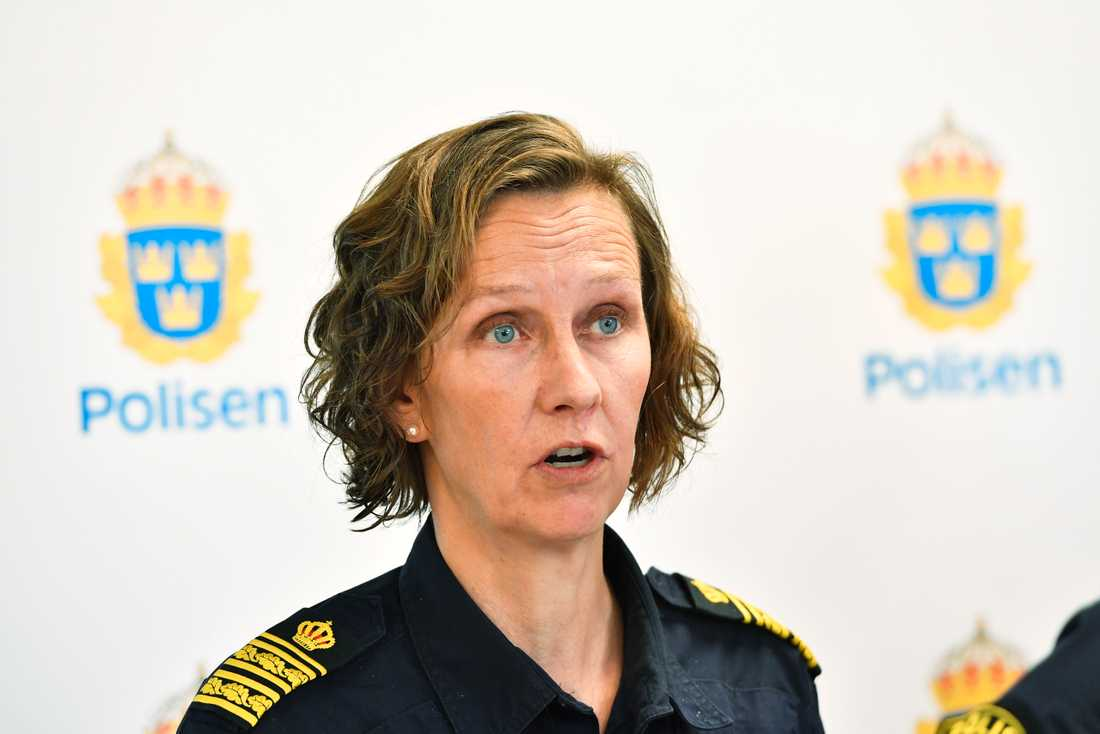 Carolina Paasikivi, polisområdeschef i Stockholm, tycker att vi sak vara uppmärksamma, men inte skräckslagna. Arkivbild.