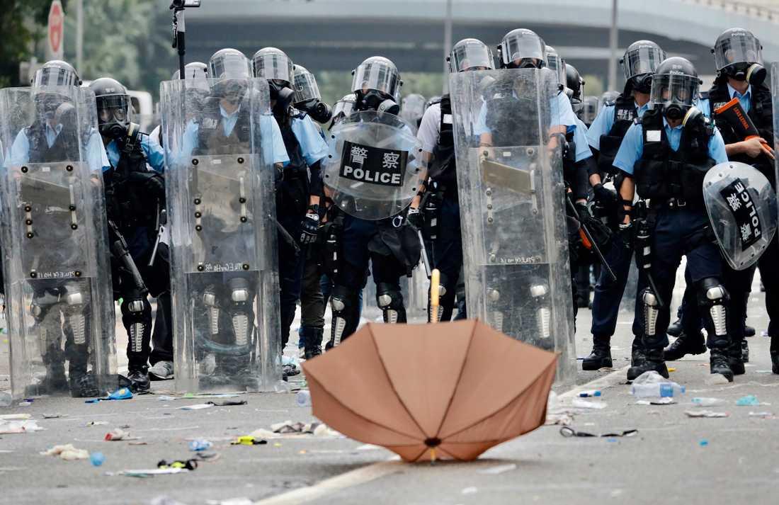 Paraplyerna blev en symbol för demokratikampen vid de förra stora demonstrationerna i Hongkong 2014.