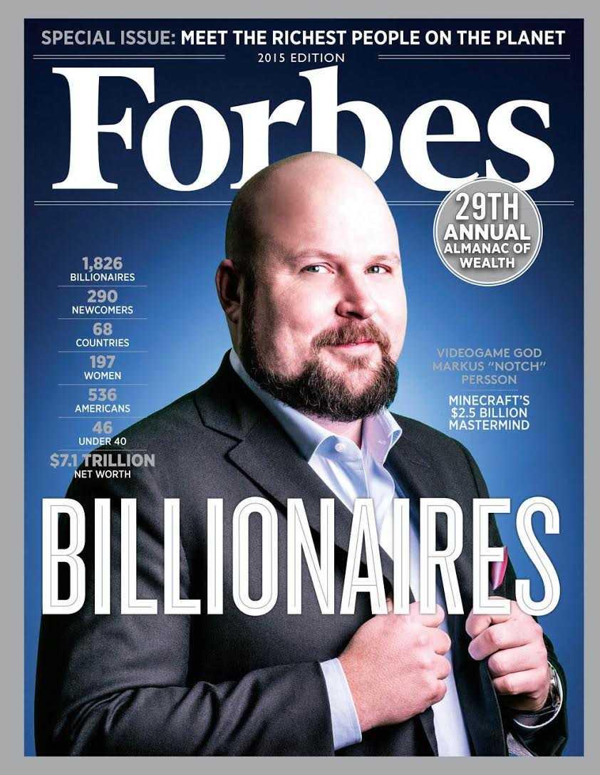 Svensken hamnade inte bara på miljardärslistan utan pryder även framsidan av tidningen.