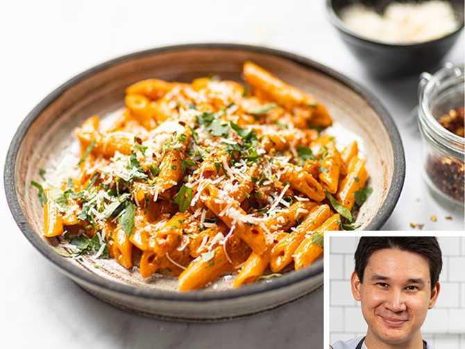 Filip Poons middagstips: Smarrigt, snabgt och enkelt. Filip Poon bjuder på vodka pasta.
