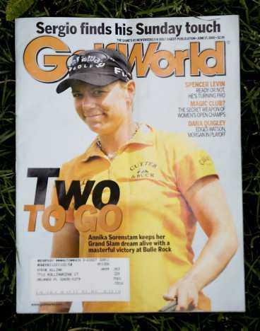Omslagstjej på Golf World.