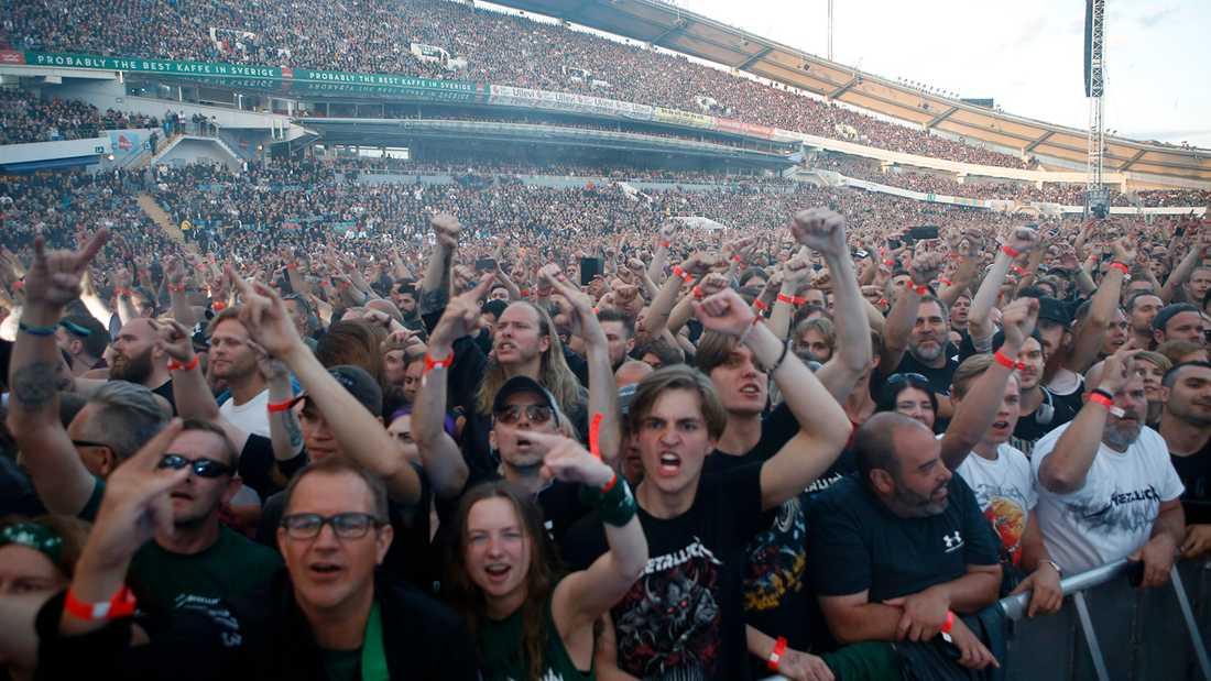 Knkökat med Metallica-fans på Ullevi.