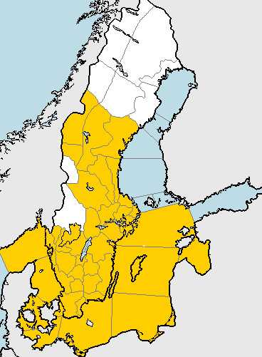 SMHI har utfärdat en klass 1-varning för stora delar av Sverige.