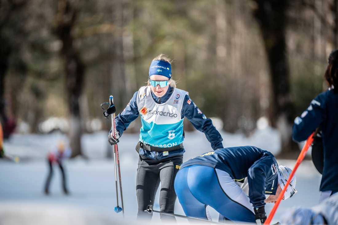 Ebba Andersson på träningen