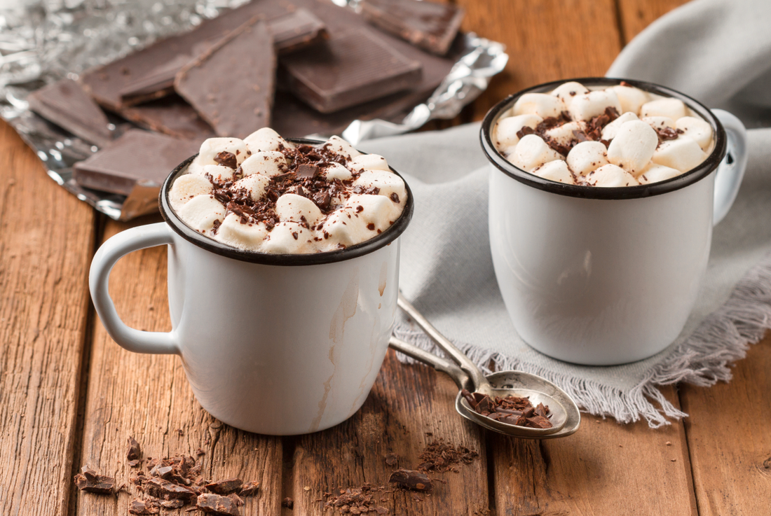 Varm choklad med marshmallows