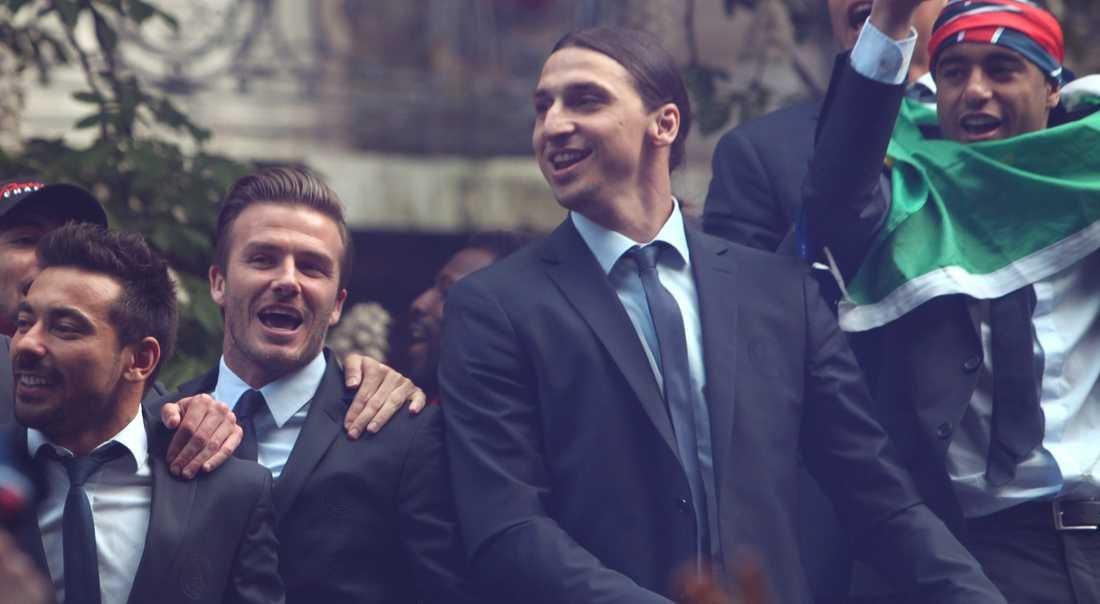 Beckham och Zlatan var lagkamrater i PSG