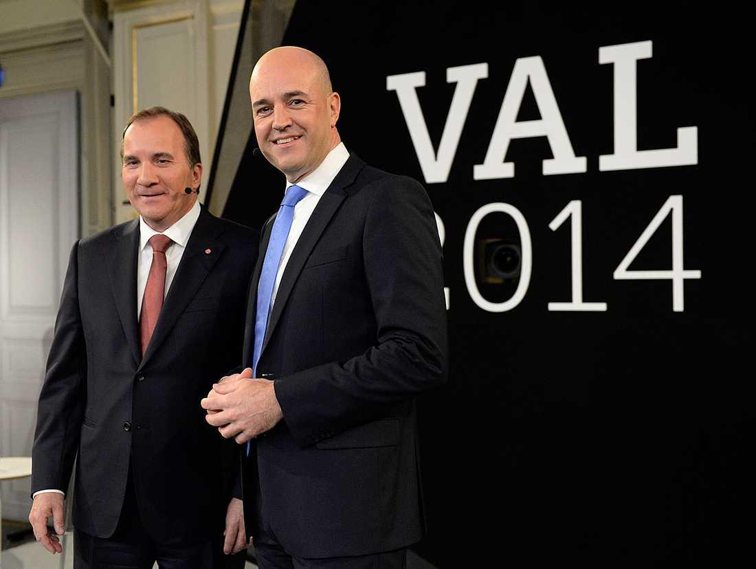 Stefan Löfven och Fredrik Reinfeldt.
