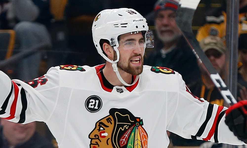 Erik Gustafsson i Chicago-tröjan.