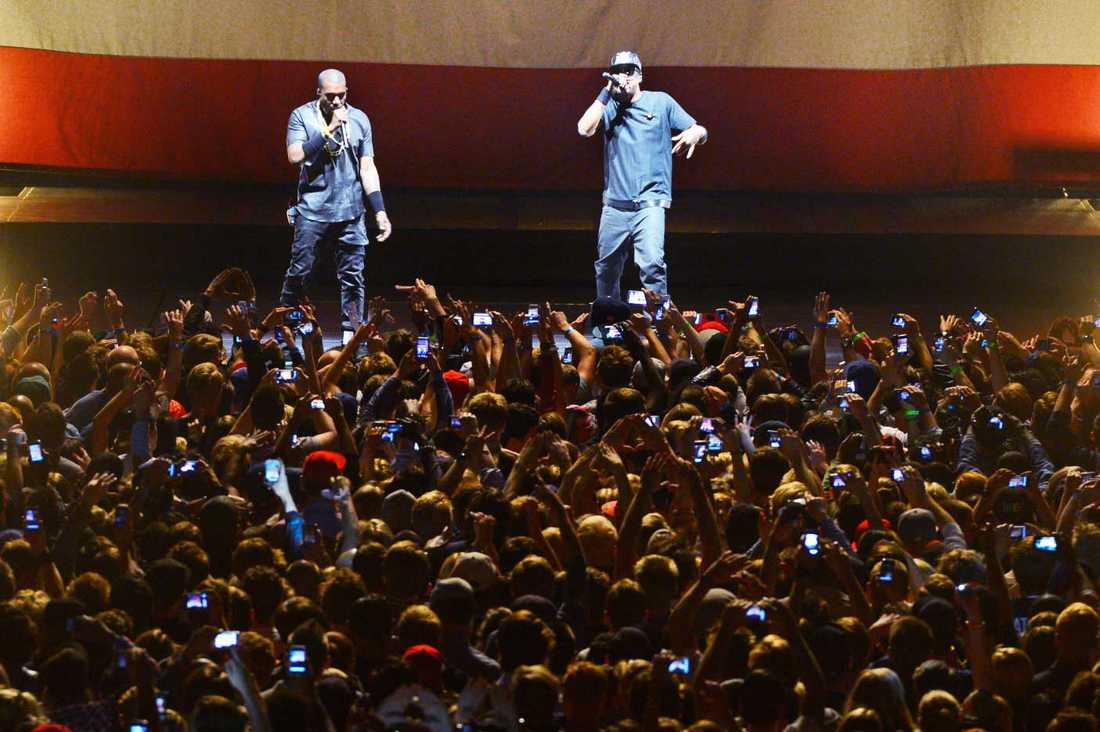 Kanye West och Jay Z uppträdde tillsammans i Globen 2012.