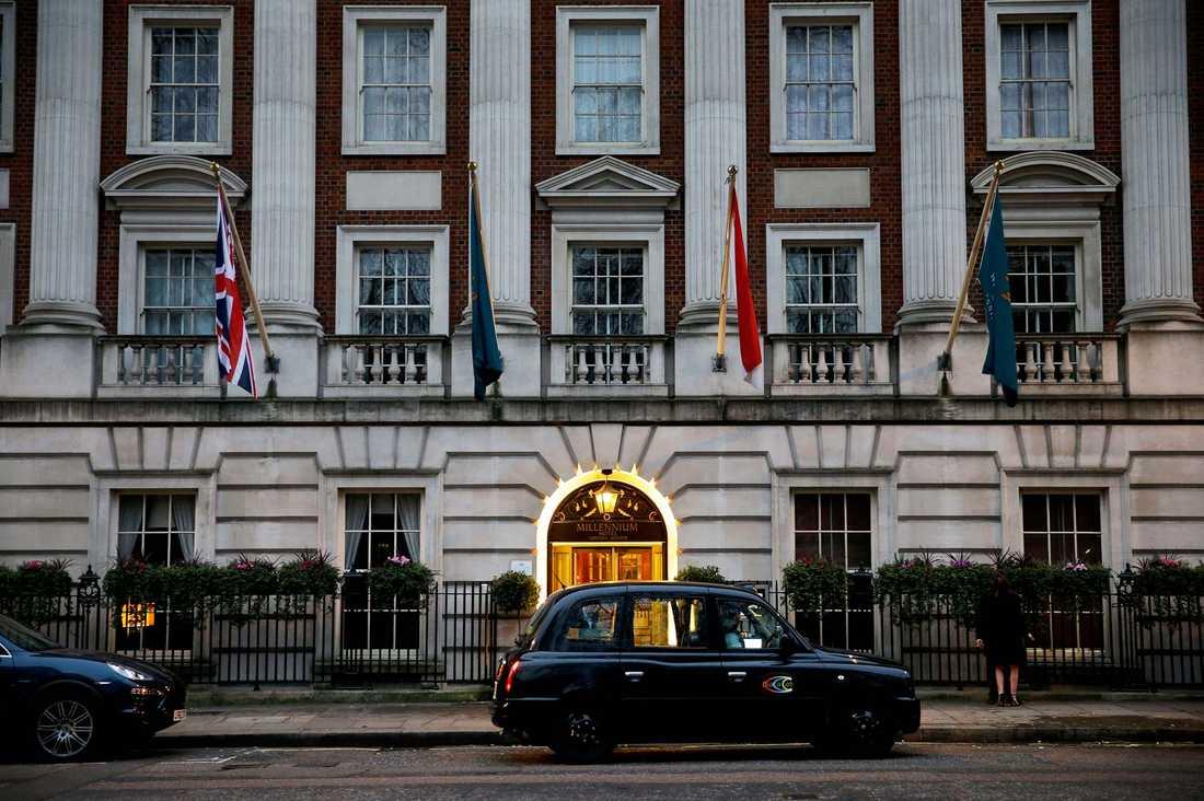 London toppar listan över städer där svenskarna spenderar flest hotellnätter även detta år. På bilden: Millennium hotel, Grosvenor Square i London.