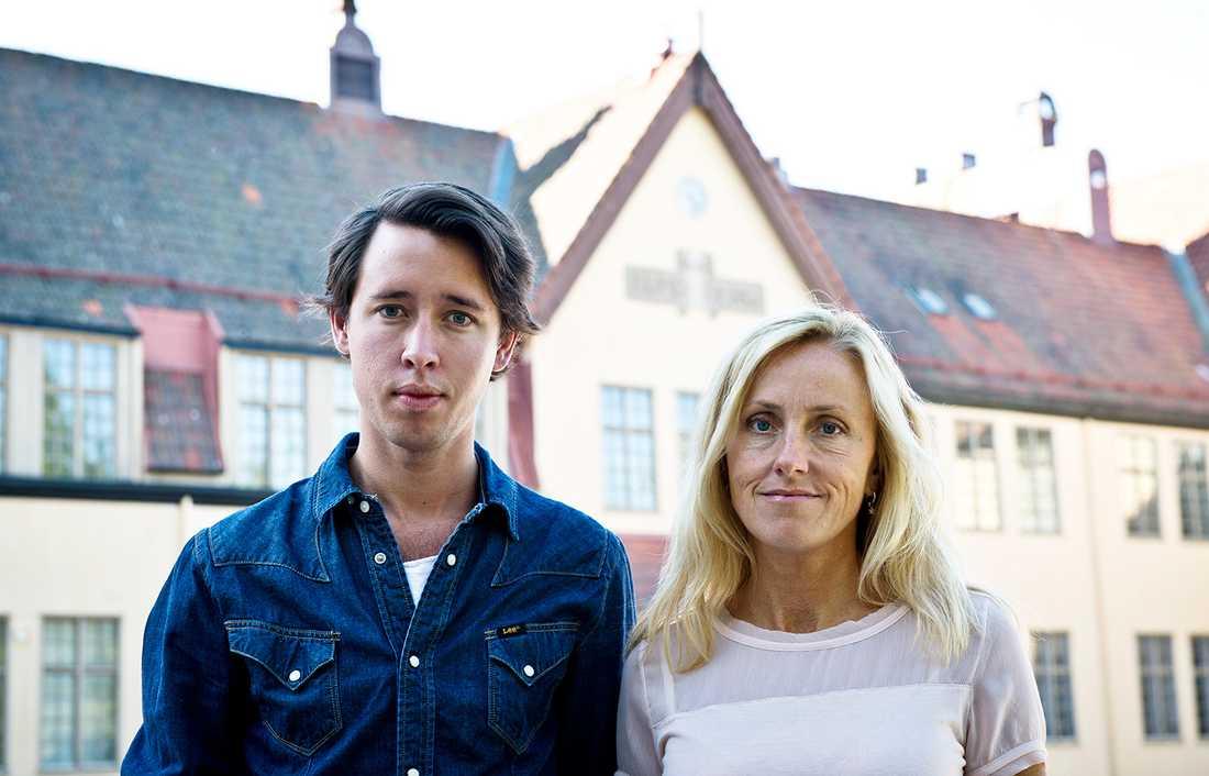 Aftonbladets utsända Staffan Dickson och Lotte Fernvall.