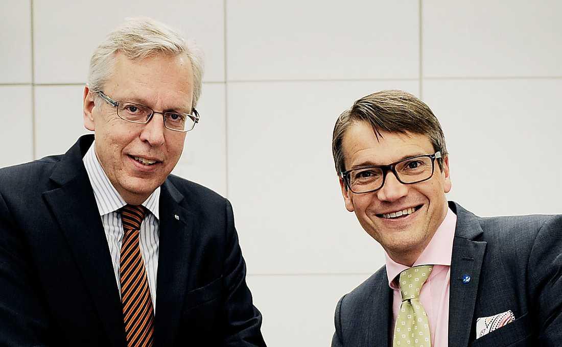KD-TOPPARNA Det sviktande stödet för KD-ledaren Göran Hägglund kan innebära att fundamentalisterna i partiet får större inflytande. Pingstvännen Mats Odell (till vänster) är den kristna högerns favorit som ny partiledare.