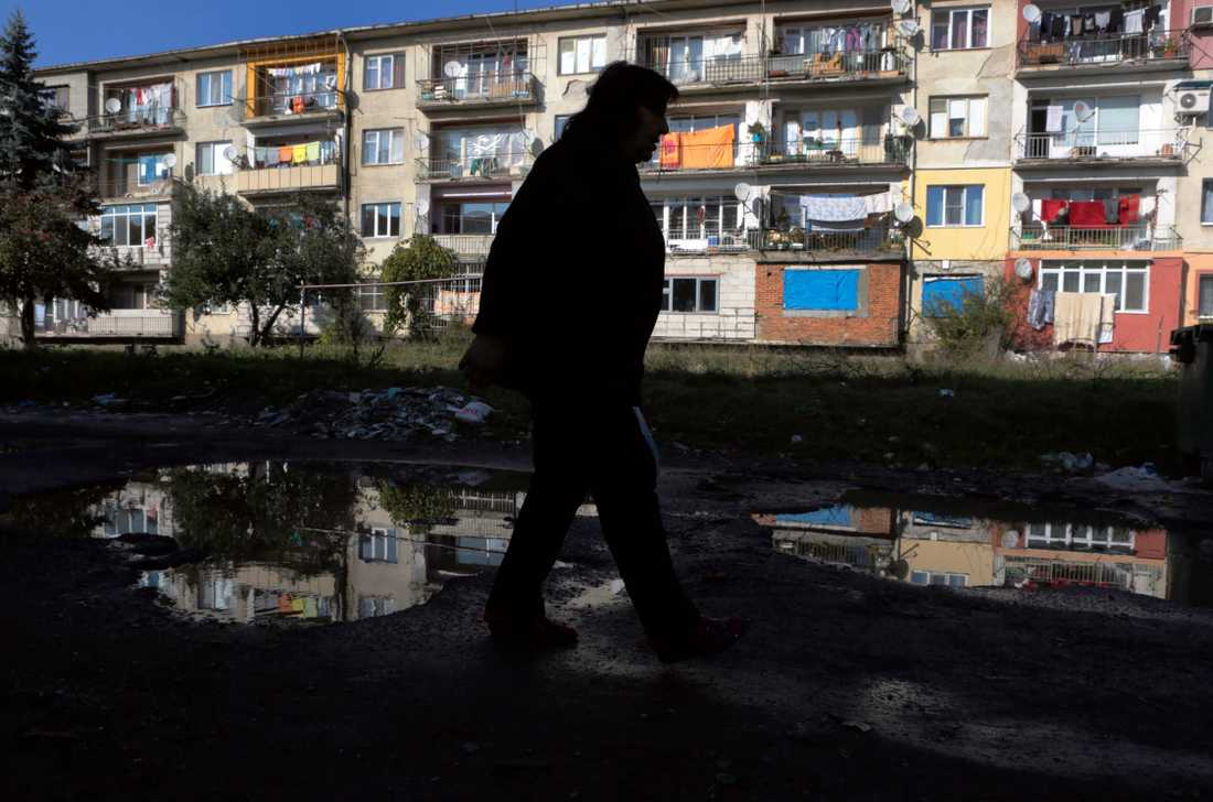 Ett bostadsområde i Sofia, Bulgarien. Arkivbild.