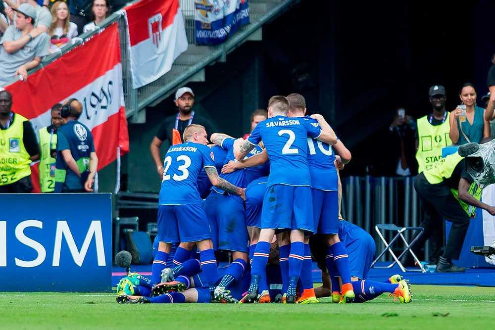 Island tog ledningen med 1-0 i den första halvleken