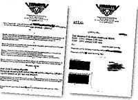 I det officiella  vita  kontraktet (till vänster) står det bland annat att spelaren under säsongerna 2000-2002 äger rätt till ersättning med 2 033 kronor i månaden och att han under säsongen totalt tjänar 36 600 kronor. I det inofficiella  svarta  kontraktet står det att spelaren under samma tid utöver den  vita lönen  ytterligare får 13 000 kronor i månaden för att spela ishockey i Tingsryd.