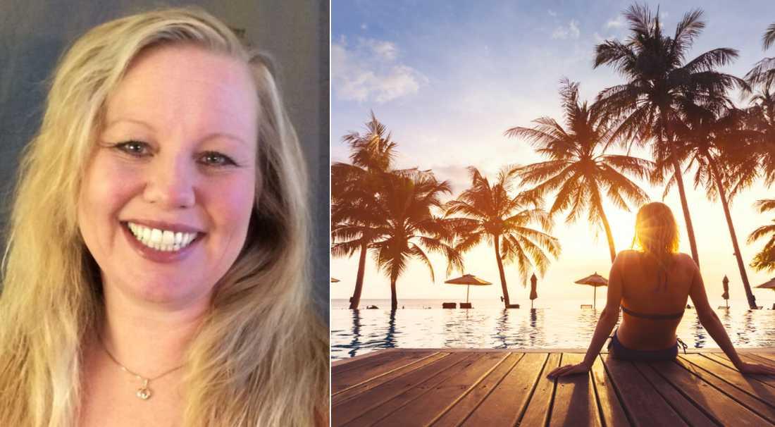 Helene Svensson tycker om att resa ensam.