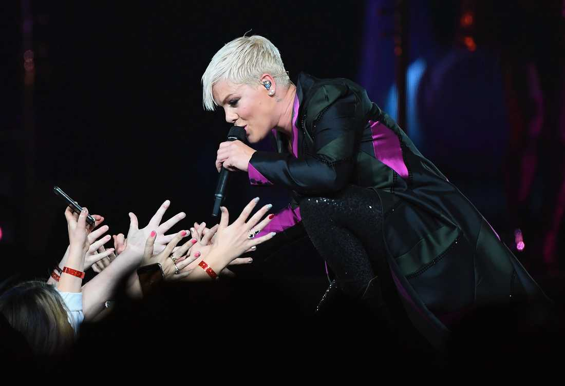 Pink uppträdde i Melbourne i Australien.