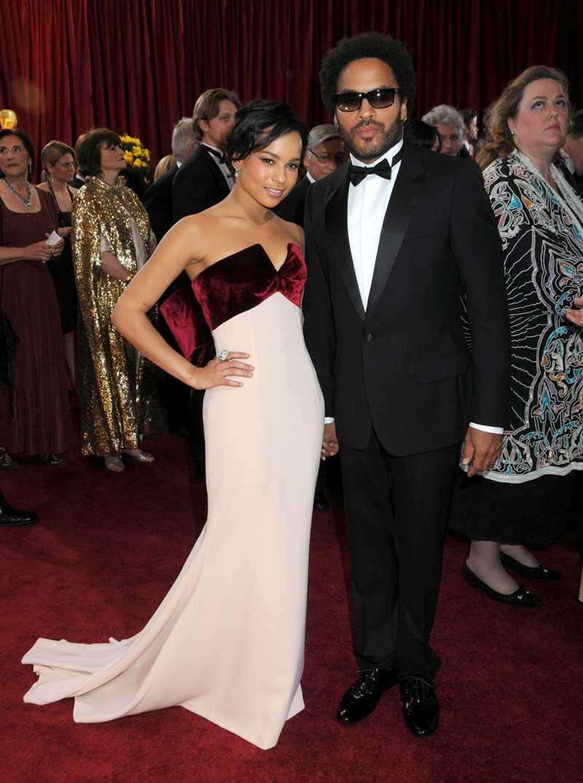 Zoe med pappa Lenny Kravitz. Mamma är Cosby-stjärnan Lisa Bonet.